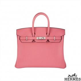 Hermès Unworn Rose Azalee 25cm Birkin Bag
